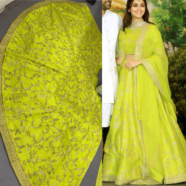 shop n discount-Aliya Designer Green  Lahnga choli