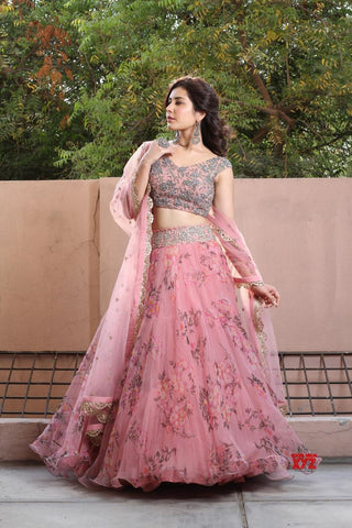 shop n discount - New Floral Lahenga Design For Women