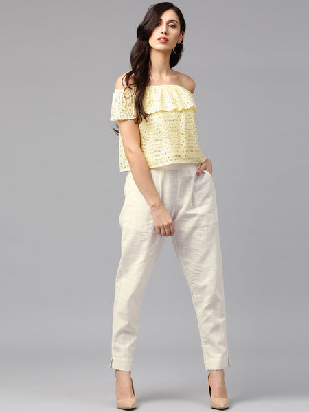 Crop Top  And Palazzo Pant For Women