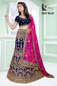 women's lehenga choli and dupatta set-2020 new design Lehengas online at shop n discount, we offer select assortment for lehenga. Fashioner Heavy Embroidered Raw Silk Designer Lehenga Choli Dupatta Set for affordable price  for Ladies with ordinarily imagine that saree is the better choice for them. watsup facility available 24/7