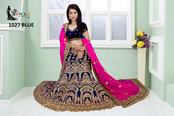 lehenga choli online shopping- 2020 new design Lehengas online at shop n discount, we offer select assortment for lehenga. Fashioner Heavy Embroidered Raw Silk Designer Lehenga Choli Dupatta Set for affordable price  for Ladies with ordinarily imagine that saree is the better choice for them. watsup facility available 24/7