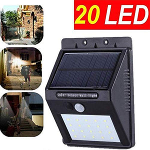 20 LED Solar Light for Home Garden Motion Sensor Outdoor Lamp(Black)