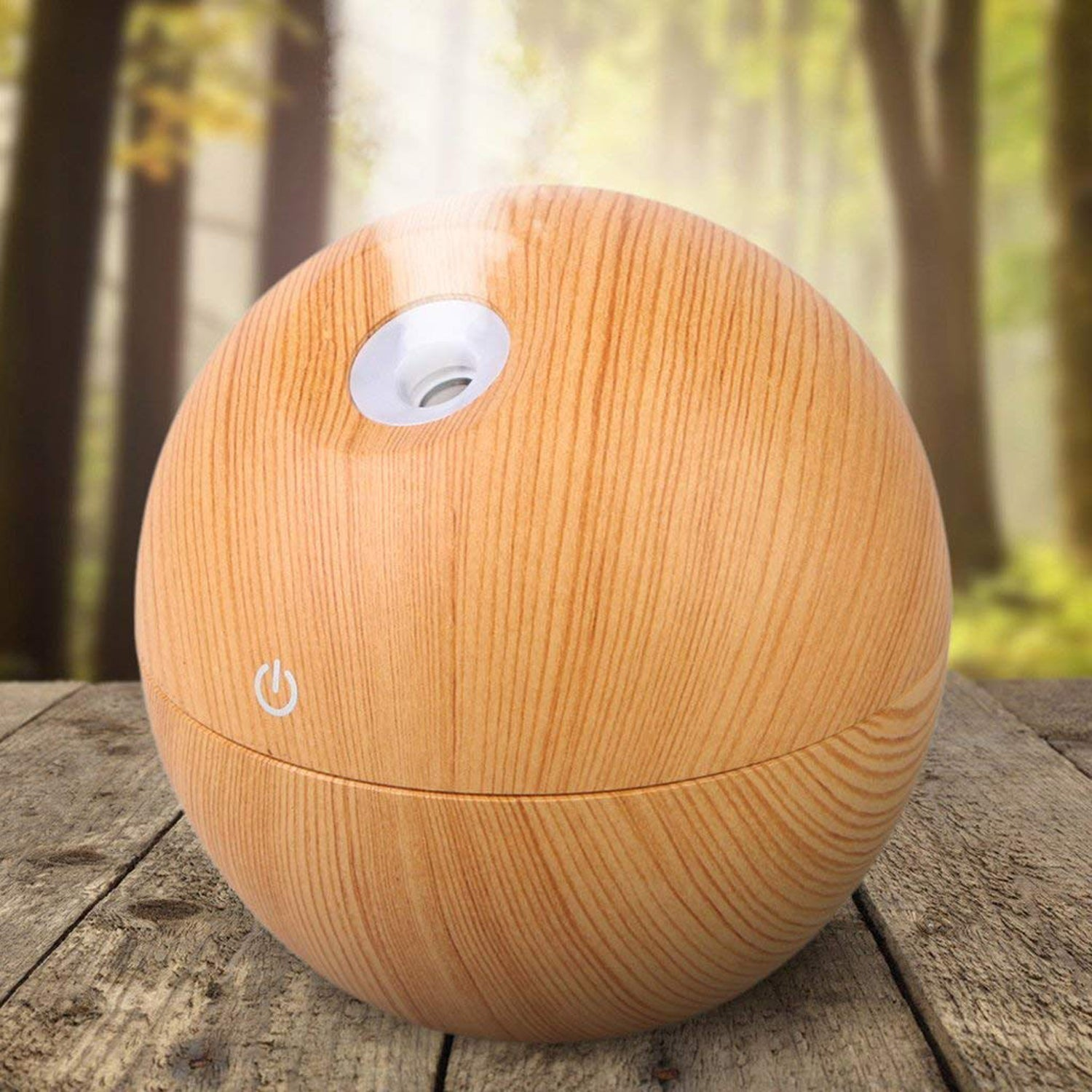 Portable Mini Wood Finish Aroma Atomization Humidifier For Home Office and Car