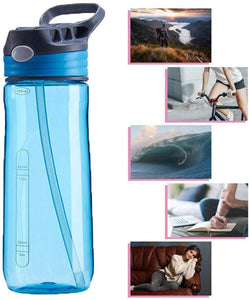 Leak and Spill Proof Autospout Plastic 680 ml Sports Water Bottle (Multi Color)