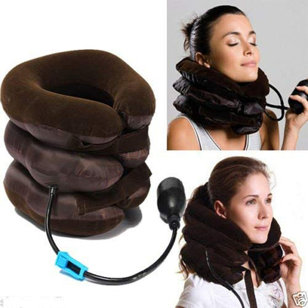 shop n discount - 3-Layers Portable Neck Massager Pillow for Cervical Spine
