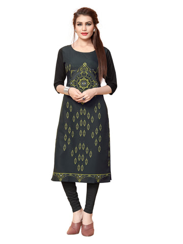 Crepe Short Sleeve Digital Printed Kurti