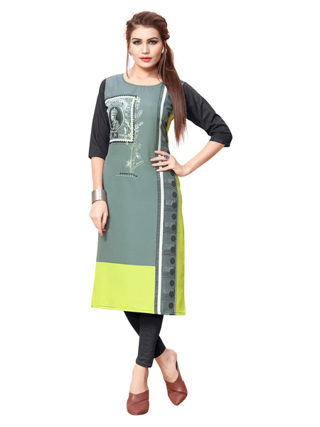Multi Color Digital Printed Women Kurti