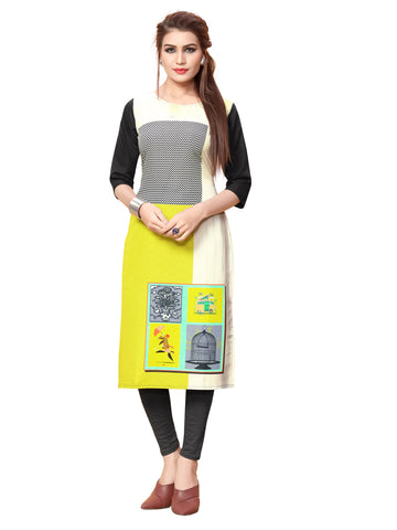 Straight Fit Digital Printed Women Kurti