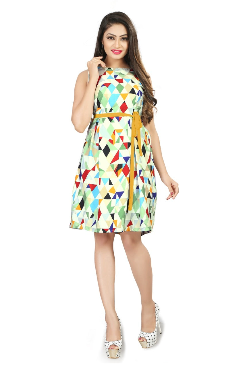 shop n discount - Printed Dresses With Sleeves For Women