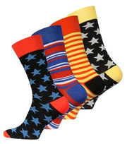 "VC - Bunte Business Socken ""Stars and Stripes"" 4 Paar"