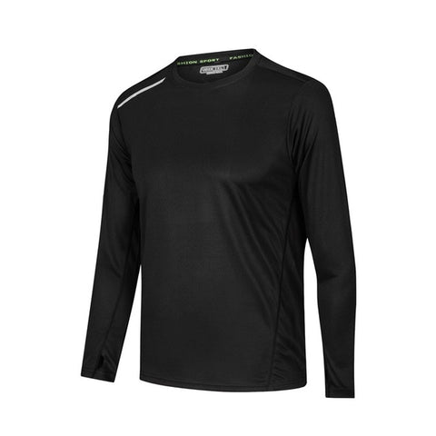 Image of Men Long Sleeve Bodybuilding Sport Running Shirt