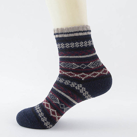 Image of Winter Thick Warm Stripe Wool Socks