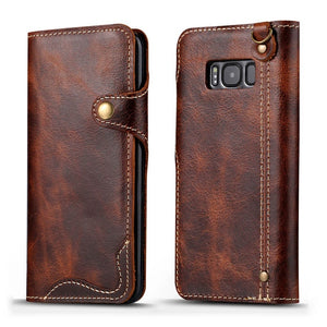 Luxury Business Genuine Leather Case for Samsung Galaxy