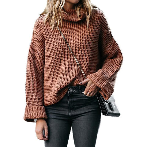 Plus Size Warm Turtleneck Sweater Knitwear