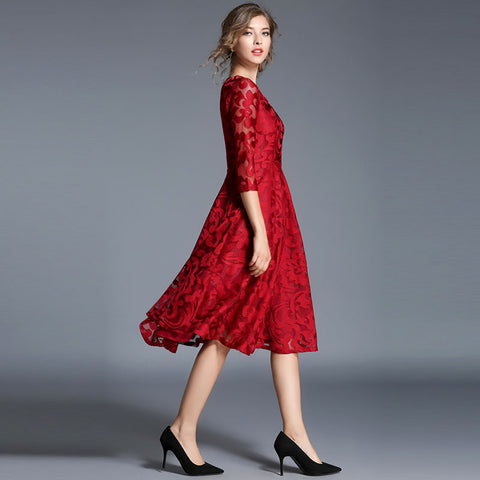 Image of Elegant Slim Ladies Party Dress