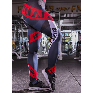Women's Sporty Legging Print Mid Waist / Slim