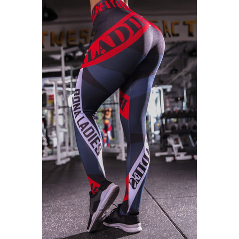 Image of Women's Sporty Legging Print Mid Waist / Slim