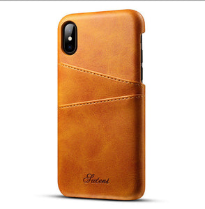 Leather Card Holder Slots Phone Cases Pu  For For phone  Samsung