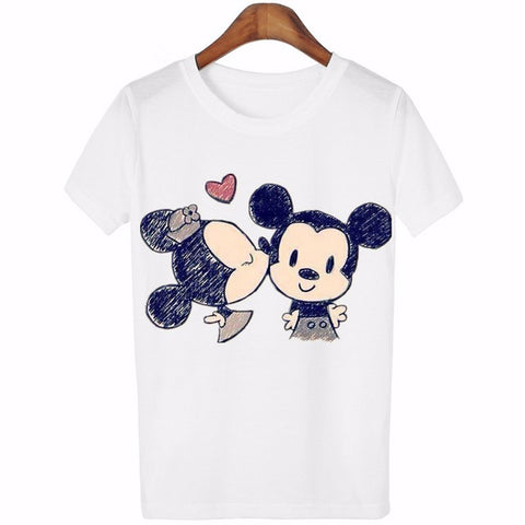 Image of Women Lovely Cartoon Casual Short Sleeve T-Shirt