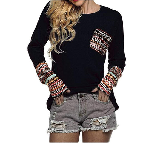 Image of Women's Long Sleeve Casual T-Shirts