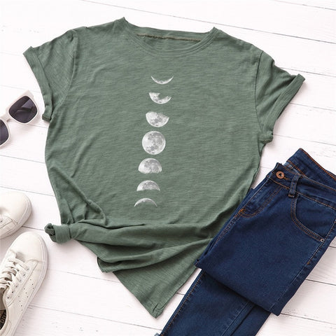 Image of New Moon Planet Print T Shirt