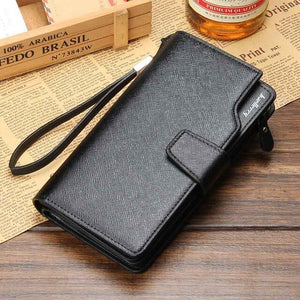 Leather long wallet multifunction