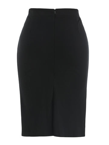 Image of Buttoned Detail Skirt