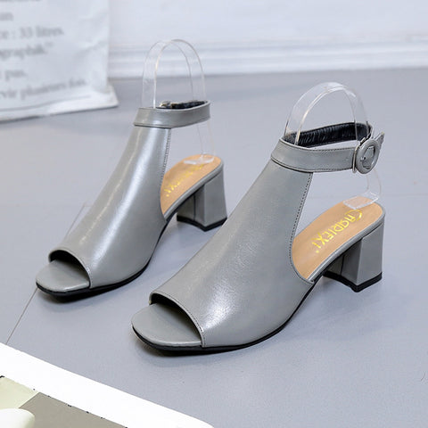 Image of Sandals Ankle High Heel