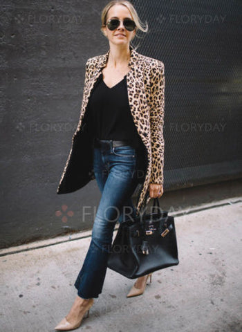 Image of Women Slim Casual Business Suit Jacket