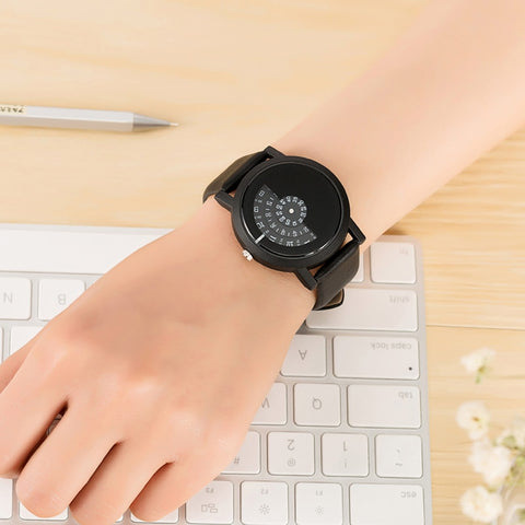 Image of Digital Discs Hands Fashion Quartz Watches for Women