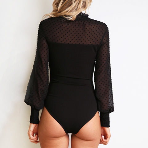 Image of Women Solid Slim Casual Bodysuit