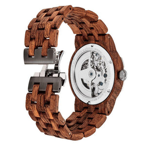 Dual Wheel Automatic Kosso Wood Watch