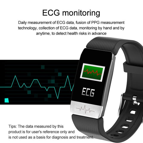 Smart Watch Band With Temperature Immune Measure ECG Heart Rate Blood Pressure