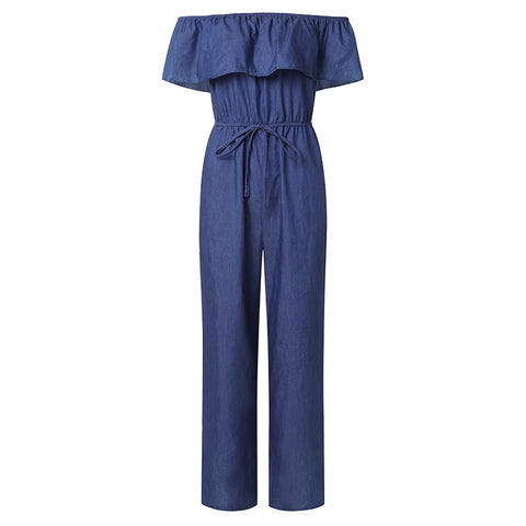 Jumpsuit Off Shoulder Ruffles Playsuit