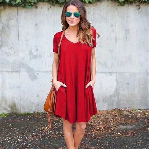Women Casual Short Sleeve Dress
