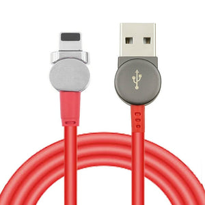 Magnetic USB Type C Cable Data Sync Nylon Braided LED Indicator Magnet Charger