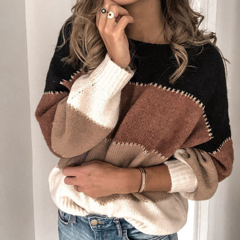 Image of Winter Loose  Leopard Print Sweater
