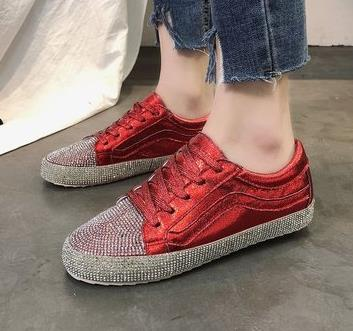 Image of Sneakers Women Golden/Silver Shoes