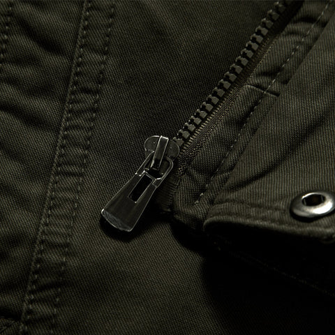 Image of Cotton Military Jacket