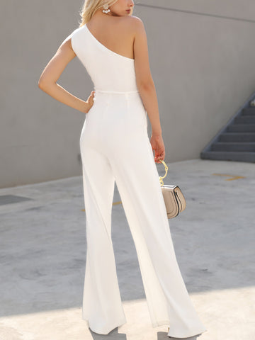 Image of Women White Casual Jumpsuit