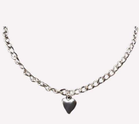 Image of Women Jewelry Cute Heart Lock Necklace Gold Silver Choker