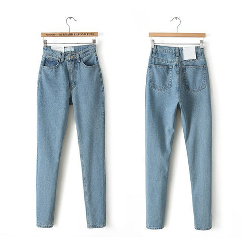 Image of Slim Pencil High Waist Jeans