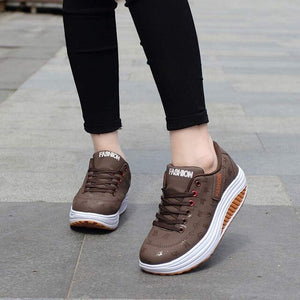 Women thick bottom wedges sneakers