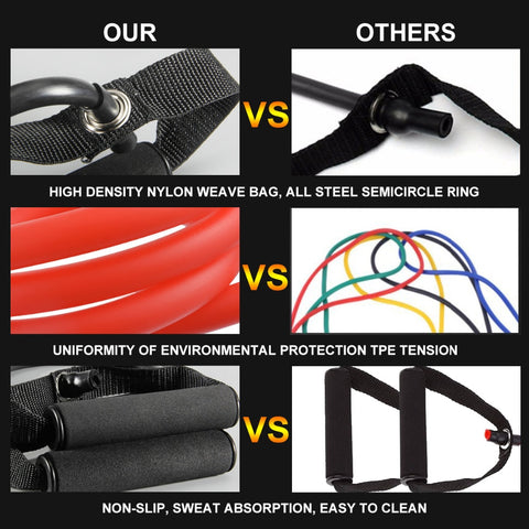 Image of Pull Rope Elastic Resistance Bands Fitness Workout Exercise