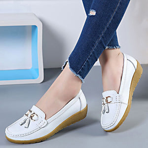 Women Shoes Loafers Genuine Leather