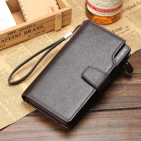 Image of Leather long wallet multifunction