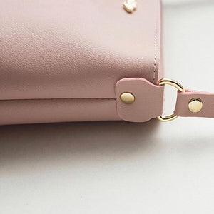 Women Solid zipper Shoulder Bag
