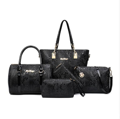 Image of Women Leather Handbags-Six Piece Set