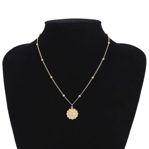 Image of Constellations Flower Tag Necklace for Women