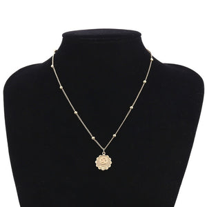 Constellations Flower Tag Necklace for Women